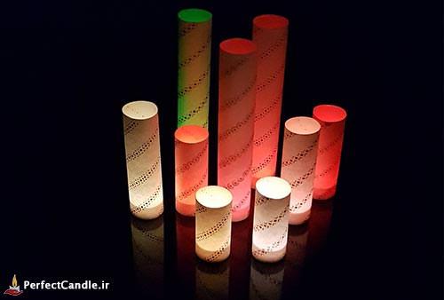 آموزش ساخت شمع های بدون شعله (شمع کاغذی)