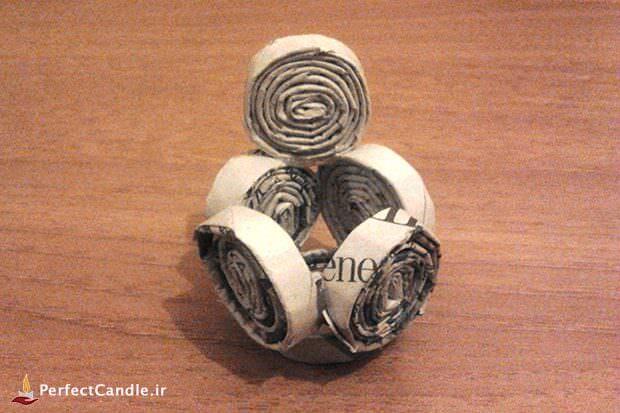 آموزش ساخت جاشمعی کاغذی