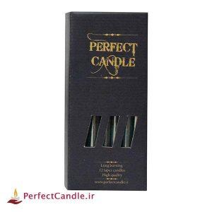 بسته شمع قلمی بنفش ۲۰ سانتی متر پرفکت
