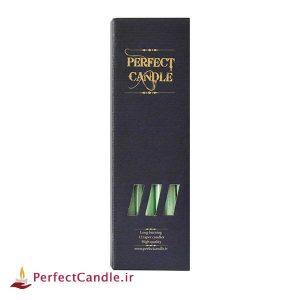 بسته شمع قلمی سبز ۳۰ سانتی متر پرفکت