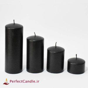 ست ۴ تایی شمع محدب مشکی