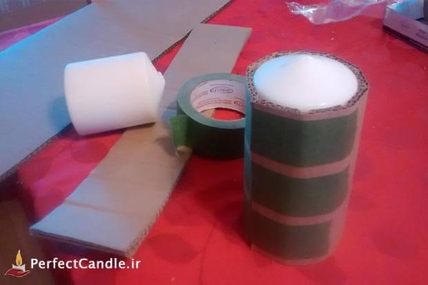 آموزش ساخت جا شمعی گلی