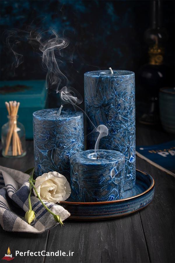 ست شمع استوانه کهکشان آبی