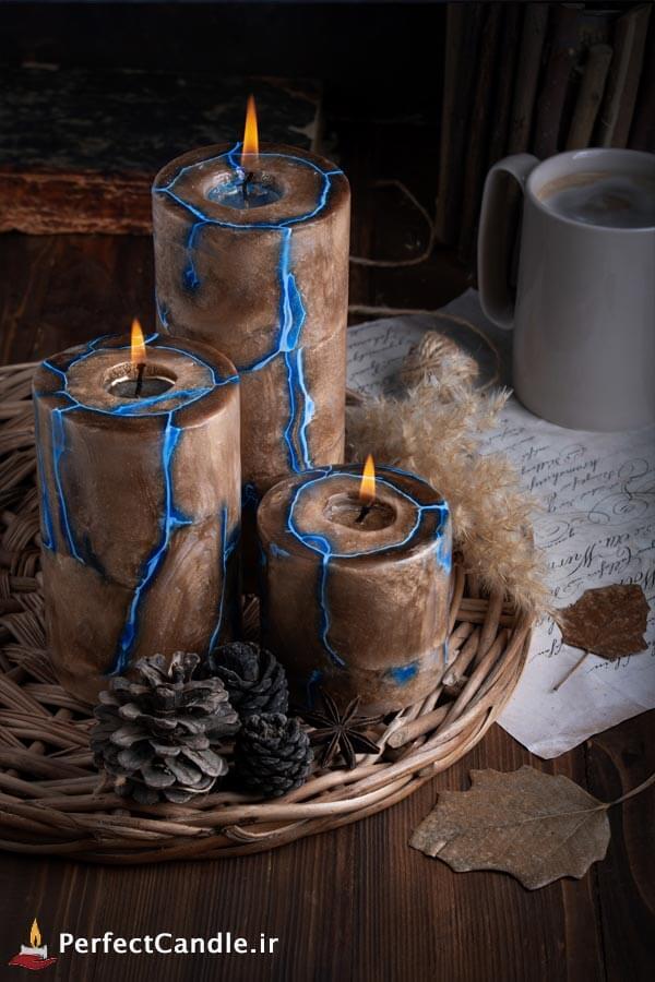 ست شمع استوانه کهکشان طلایی