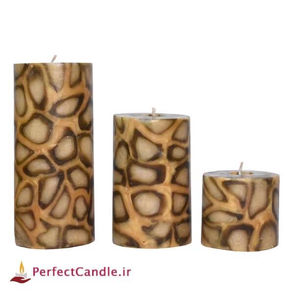 ست شمع استوانه پلنگی