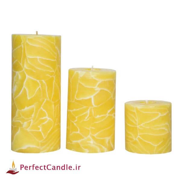 ست شمع استوانه آفتاب درخشان - شمع لاکچری
