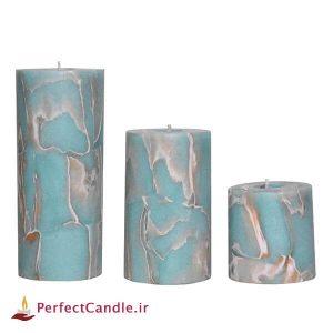 ست شمع استوانه فیروزه
