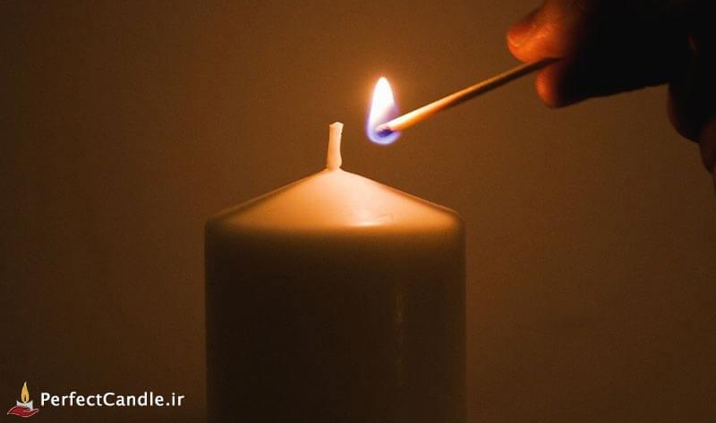 نکات ایمنی در مورد روشن کردن شمع ها