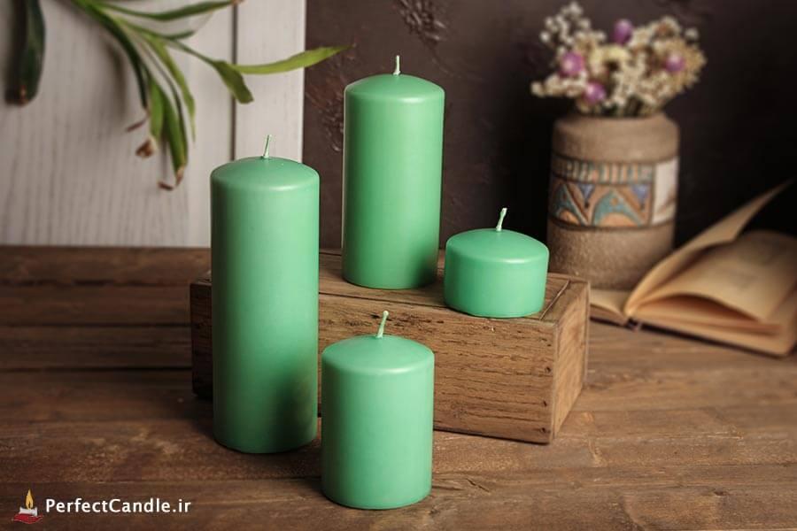 ست ۴ تایی شمع محدب سبز