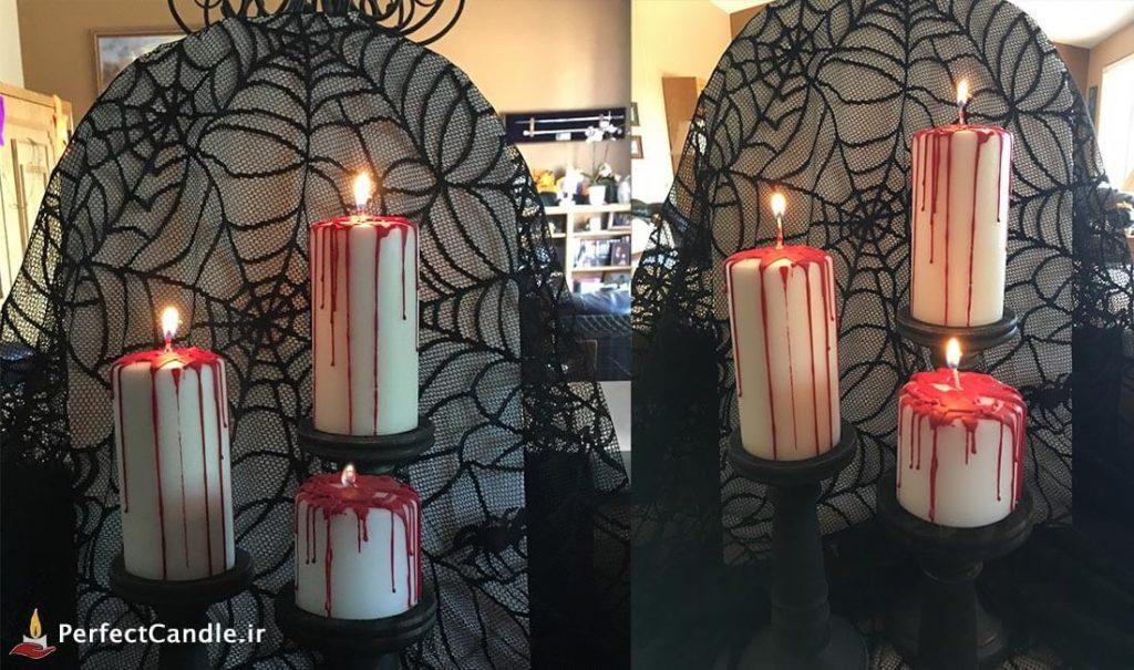 ساخت شمع هالووین ترسناک
