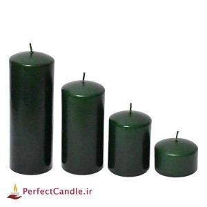 ست ۴ تایی شمع محدب سبز یشمی